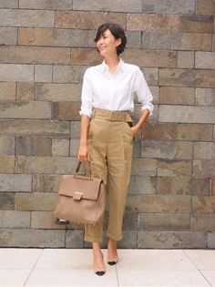 {BF29E9AF-5F9B-4A9B田丸さん-B290-199C9DA12644} Office Fashion, Work Fashion, Daily Fashion, Chic Outfits, Fashion Outfits, Womens Fashion, Paar Style, Business Outfit Frau, Mode Simple