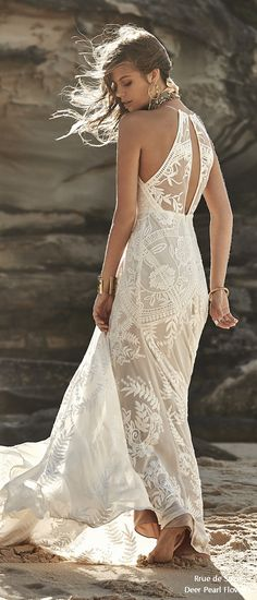 Rue de Seine Moonlight Magic Boho Wedding Dress lily_side #weddings #dresses #weddingideas #lace