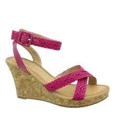 Fuchsia Ivana Sandal by Pierre Dumas #zulily #zulilyfinds