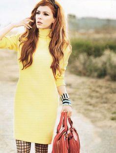 model elena satine, photographed by doug inglish for instyle