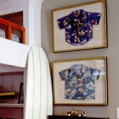 The Perfect Compromise    You refuse to let him wear his favorite Hawaiian shirt in public. He refuses to throw it away. Call a truce and frame the shirt to make a fun, colorful display. (It looks better on the house anyway.)  Artfully Coastal | The Perfect Compromise | CoastalLiving.com