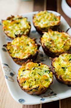 Baked Zucchini Bites (with Gluten Free Option) - Cooking ala Mel - these can also easily be made in a regular versus mini muffin tin - served with Marinara they make a great Appetizer or even a Veggie Side Dish