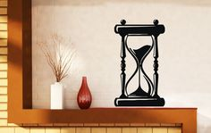 Wall Sticker Vintage Item Hourglass Time Sand Vinyl Decal (N489)