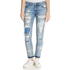 Dsquared2 13 cm Destroyed Stretch Denim COOL GIRL Capri Jean ...