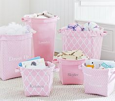 Light Pink Canvas Storage #pbkids. Got These For Adelyn They Are Going To Be