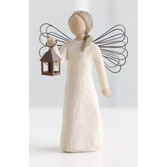 Willow Tree Angel of Hope Figurine- 26040. Sharing the light of hope and courage. - Willow Tree Specialist Retailer Willow Tree Statues, Willow Tree Figures, Willow Tree Angels, Tree Specialist, Sauce, Biscuit, Tree People, Tree Sculpture, Cherub
