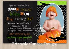 spook tacular halloween birthday invitation diy custom printable on etsy 1000