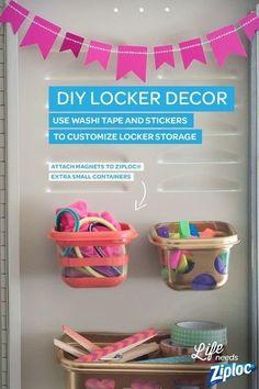 DIY Hanging Locker Storage -  DIY Back-To-School Supplies - Photos