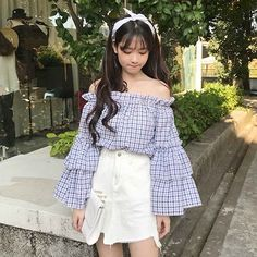 Discover recipes, home ideas, style inspiration and other ideas to try. Ulzzang Girl Fashion, Korean Girl Fashion, Teen Girl Fashion, Korean Fashion Trends, Kpop Fashion Outfits, Korean Street Fashion, Korean Outfits, Girl Outfits, Korea Fashion