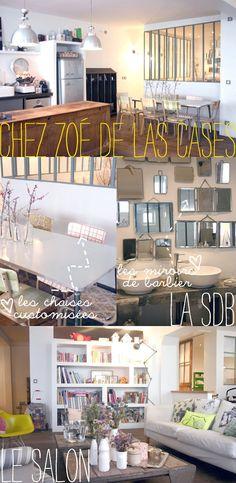 chez Zoé de las Cases, boho, boheme, vintage, verriere industrielle, industrial, chaises Gambettes, cool, miroir barbier