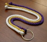 God's Knot. Instead of a unity candle, I would like to do a God's knot! The outside cords represent the bride and groom and the middle is God. Braided together the cords are a symbol of how God is interwoven into the relationship between a husband and wife.