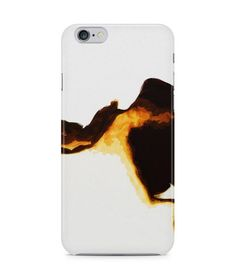 Cool Dark Brown and Yellow Abstract Picture 3D Iphone Case for Iphone 3G/4/4g/4s/5/5s/6/6s/6s Plus - ARTXTR0134 - FavCases