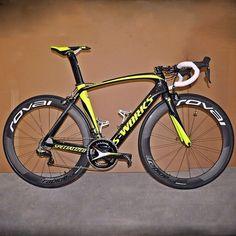 Bici Veloce. — Team Tinkoff-Saxo rider Michael Valgren's bike is...