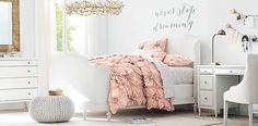Juliet Upholstered Bedroom   RH TEEN