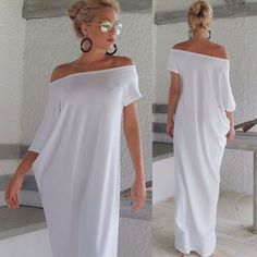 Women Lady Boho Beach Short Sleeve Evening Party Long Maxi Sundress Dress