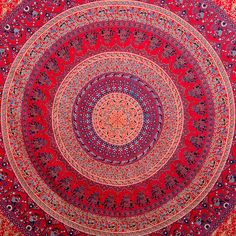 Medallion Tapestries Tapestry Wall Hanging Hippie by CraftAuraHome