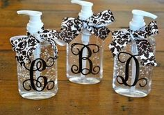 You choose your ribbon and colors for a monogram or an image. These make cute add-ons to bridesmaid gifts and for almost any gift giving occasion.