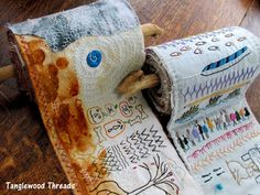 Tanglewood Threads: 2012 Scratchings - stitched journals