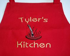 Chef APRON Cooking HOT DOG restaurant BBQ baking food kitchen cookies painting #ApartmentK9West