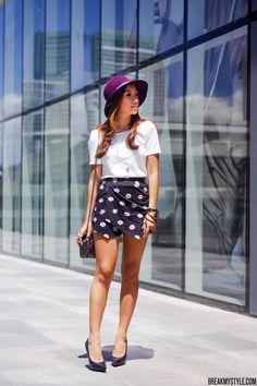 summer style / polka dot shorts