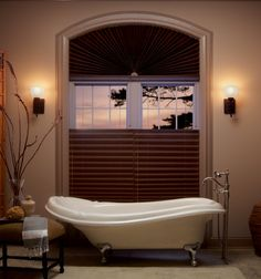 Window Treatments by Graber Blinds: Pleated Shades Bathroom Window Treatments, Bathroom Windows, Custom Window Treatments, Graber Blinds, House Painting Cost, Beautiful Blinds, Sheer Blinds, Custom Blinds, House Blinds