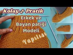 Kolay ve Pratik Bay - Bayan Pa Easy Crochet Slippers, Crochet Sandals, Bed Socks, Knitting Accessories, Knitted Bags, Free Pattern, Knitting Patterns, Diy And Crafts, Projects To Try