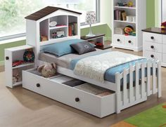 Docila Youth Bed with Nightstand and Trundle by Acme Furniture