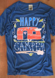 HAPPY CAMPER FADED NAVY - Junk GYpSy co.