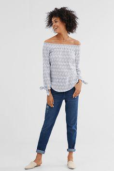 Esprit / Casual off shoulder blouse, katoenmix