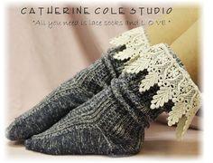Lace Socks lace boot socks boot socks by CatherineColeStudio