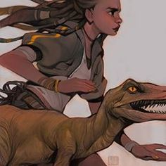 Just a girl and her pet dino, because why not? What was your favorite dinosaur movie growing up? Mine was Land Before Time ~ still one of my faves tbh! Dinosaur Movie, Dinosaur Art, Fantasy Characters, Disney Characters, Fictional Characters, Loish, Land Before Time, Character Concept, Your Favorite