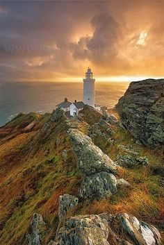 Start Point Lighthouse, Devon, England, UK