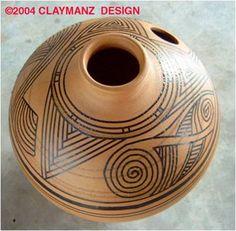 tape design mask by claymanz, via Flickr Ceramic Birds, Surface Finish, Chakras, Bird Houses, Drums, Nativity, Native American, Tape, Pottery