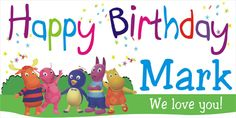 Backyardigans Birthday Banner -Personalized by www.bannergrams.com Personalized Birthday Banners, Party Banners, Party Themes, Party Ideas, Little Boys, Birthdays, Happy Birthday, Love You, Kids