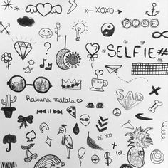 Tumblr Drawings, Doodle Drawings, Doodle Art, Easy Drawings, Little Doodles, Cute Doodles, Sharpie Tattoos, Notebook Doodles, Stick N Poke Tattoo