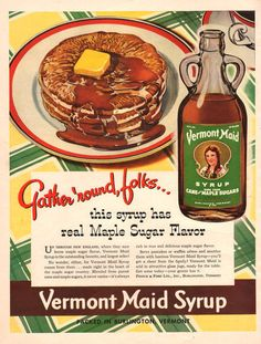 1941 Vermont Maid Maple Syrup ad