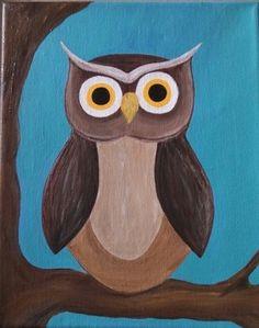 Owl Painting-   Acrylic on Canvas