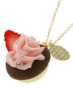 Q-pot  Online Shop Limited  Very Berry CupCake Necklace B704 0411 from JAPAN