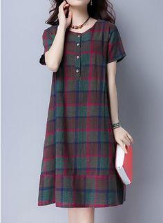 Dress pattern simple women robes 42 ideas - Women Robes - Ideas of Women Robes - Dress pattern simple women robes 42 ideas Simple Dresses, Cute Dresses, Vintage Dresses, Casual Dresses, Fashion Dresses, Designer Kurtis, Designer Dresses, Linen Dresses, Cotton Dresses