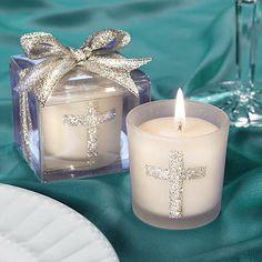 Image detail for -elegant Baptism or Christening tealight, candle and votive holder ...