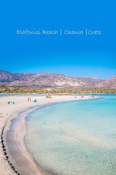 Visit this magical place full of white and pink sandy beaches! #crete #greece #chania #summer #vacations #holiday #travel #sea #sun #sand #nature #landscape #island #TheHotelgr