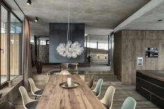 concrete and wood interior - Google Search