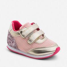 Zapatillas de niña running purpurina Rosa - Mayoral