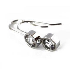 Stainless Steel & Cubic Zirconia Anna Earring by Edblad.  www.antori.com