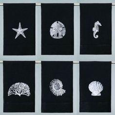 Linen sealife napkin set