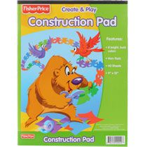 Construction paper, 9x12 40 sheets $1