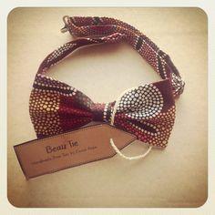 Mens aboriginal tribal print bow tie by Beau Tie - £26.00