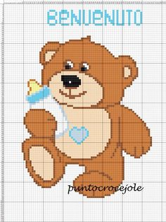 Baby bear with bottle c2c