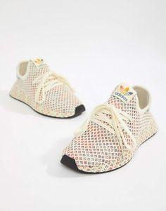 brand new 64569 bee07 adidas Originals Pride Deerupt Sneakers In Rainbow Mesh Womens Sneakers  Tennis Shoes