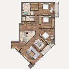 Căn hộ 4 phòng ngủ tòa R6 Royal City